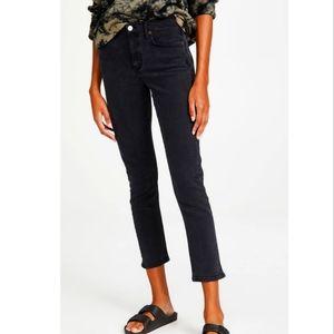 Agolde Toni jeans mid rise straight,size 26 ,black